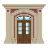 Vector image, stone entrance of house Stock Photography