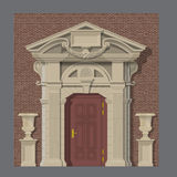 Vector image, stone entrance of house Stock Images