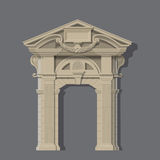 Vector image, stone entrance of house Royalty Free Stock Photography