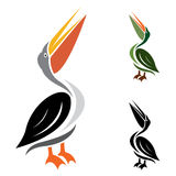 Vector image of an stork Royalty Free Stock Photo