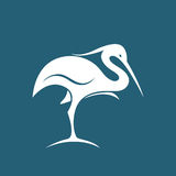 Vector image of an stork Stock Photo