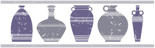 Vector image with stylish vases. For your designs Royalty Free Stock Photo