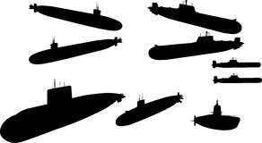 Vector Image Of submarines. Fine collection of  image of submarines Stock Images