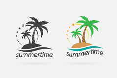 Vector image of an summer time design. Stock Images