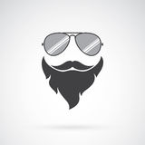 Vector image of an sunglasses and mustache and beard Stock Photography