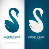 Vector image of an swan design Stock Photos