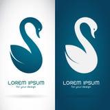 Vector image of an swan design Stock Photos