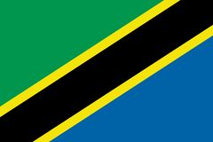 Vector image for Tanzania flag. Based on the official and exact Tanzania flag dimensions & colors royalty free illustration