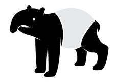 Vector image of an tapir Stock Photo