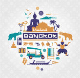 Vector image of thailand items Royalty Free Stock Image