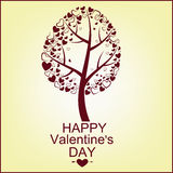 The vector image of a tree with hearts Royalty Free Stock Image