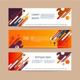 Abstract compositions from the rounded bands, futuristic and modern colors. Vector templates for posters, banners, flyers and pres stock illustration