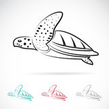 Vector image of an turtle Royalty Free Stock Images