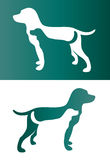Vector image of an two dog. Stock Photos