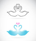 Vector image of two loving swans Stock Photography