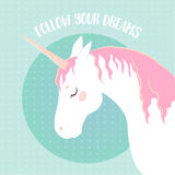 Vector image of a unicorn t-shirt, print, Royalty Free Stock Photos