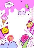 Vector image with very tasty ice cream illustration. Stock Photos