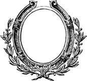 Decorative round frame. Vector image of a vintage decorative frame royalty free illustration