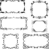 Set of the decorative frames in the art nouveau style Royalty Free Stock Images