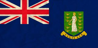 Virgin islands paper flag Royalty Free Stock Images