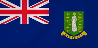 Virgin islands waving flag. Vector image of the Virgin islands waving flag Stock Photography