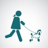 Vector image of an walking dog Royalty Free Stock Image