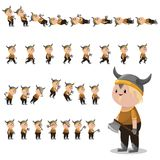 Viking character sprites for games. Royalty Free Stock Image