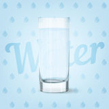 Vector image of water glass. Vector image of fresh cool glass of water Stock Image