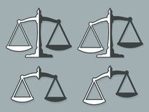 Vector Image Of Weight Scales Representing Justice Stock Images