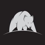 Vector image of a white bear Royalty Free Stock Image