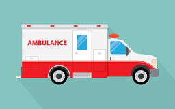 Vector image of an white car Ambulance Royalty Free Stock Images