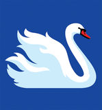 Vector image of white swan Royalty Free Stock Photo