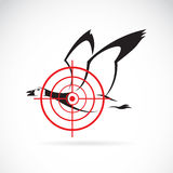 Vector image of a wild duck target Royalty Free Stock Photos