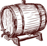 Cask. Vector image of the wine barrel Royalty Free Stock Photos