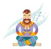 Vector image of yoga stock illustration