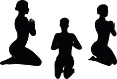 Vector Image - Yoga pose isolated on white background Stock Photo
