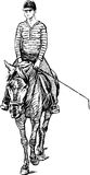 Girl on horse Stock Image