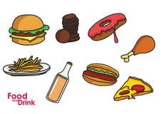 Vector a imagem de um alimento e beba-a para seu projeto Foto de Stock Royalty Free