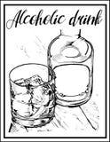 Vector a imagem de um cocktail com um nome Foto de Stock Royalty Free