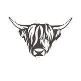 Vector a imagem de um sinal da vaca para a loja de carniceiros ilustração do vetor