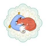 Vector a imagem de uma raposa bonito em um descanso isolado em um fundo branco ilustração royalty free