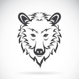 Vector images of bear head on a white background. Royalty Free Stock Photography
