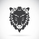 Vector images of bear head on a white background. Stock Photos
