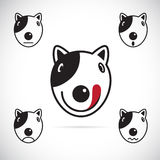 Vector images of Bull terrier face Royalty Free Stock Photo