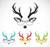 Vector images of deer wearing glasses Stock Photo
