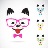 Vector images of dog wearing glasses Stock Photography