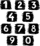 Hand-drawn numbers Stock Image