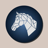 Vector images of horse head stock illustration