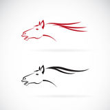 Vector images of horse head design Stock Photography
