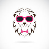 Vector images of lion wearing sunglasses Stock Images